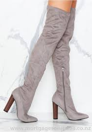 womens knee high boots nz womens grey camel boots shoes viven suede knee at