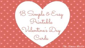 valentines day cards 18 simple easy printable s day cards the birds