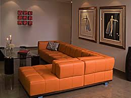 warm decorating ideas for rainy fall and winter orange leather