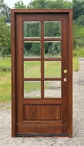 Glass Exterior Door Mahogany Single Doors