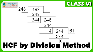 Simple Division Worksheets Hcf By Division Method Maths Class Vi Cbse Isce Ncert Youtube