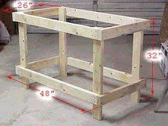 Simple Wood Bench Design Plans by Best 25 Workshop Bench Ideas On Pinterest Workshop Wood Work