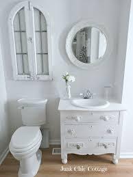 junk chic cottage vintage dresser re loved into sink vanity