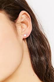 staple earrings lyst whitaker x uo sterling silver staple stud earring