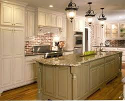 kitchen brick backsplash brick backsplash kitchen colonial gold counters with faux brick