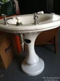 Powder Room With Pedestal Sink And We U0027ll Never Be Royals A Diy Powder Room Design The