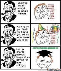 Troll Dad Memes - fcking troll dad by demonkillercat69 meme center