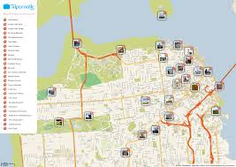 San Francisco Topographic Map by Free Printable Map Of San Francisco Attractions Free Tourist