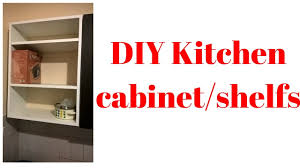 diy kitchen cabinet shelfs from plywood youtube
