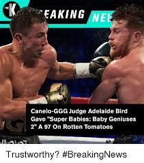 eaking ne the canelo ggg judge adelaide bird gave super babies baby