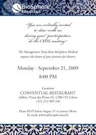 company dinner invitation templates
