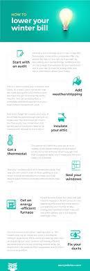 how to lower your winter bill infographic savvyadvisor