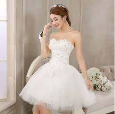 aliexpress com buy new mines 2016 short white lace wedding dress