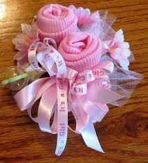 baby shower sash ideas baby sock corsage handmade baby sock shower corsage by 2cutebaby