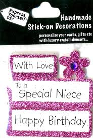 happy birthday special niece diy greeting card toppers gift
