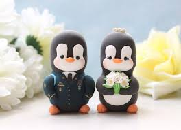 wedding cake toppers military penguins love birds us army dress
