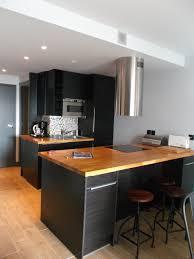 table haute de cuisine avec rangement cuisine avec table bar ides