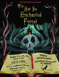 Halloween Town Burbank Ca by Rotten Apple 907 Not So Enchanted Forest Hollywood Gothique