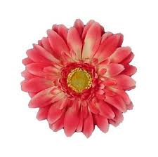 flower for hair flower clip fuchsia gerber medium large 4 4 5 inch alligator