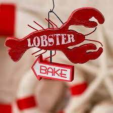 lobster bake ornament sign signs ornaments home decor