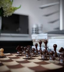 triple d modern monochrome green apartment chess board