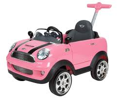 Car Dimensions In Feet by Avigo Mini Cooper Foot To Floor Ride On Pink Toys