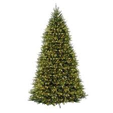 national tree company 10 ft pre lit dunhill fir hinged artificial