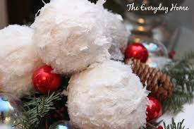 snowball ornaments the everyday home