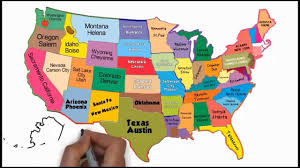 United States Map With Cities And States by The 50 States And Capitals Song Silly Songs Youtube