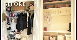 how to create a mudroom from a closet hometalk