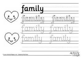 my family worksheets for kindergarten pdf kindergarten family