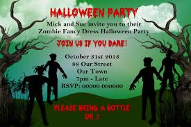 Kids Halloween Birthday Party Invitations by Zombie Birthday Invitations U2013 Gangcraft Net