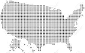 Usa Map Black And White by Usa Map From Dots Isolated On The White Background Royalty Free