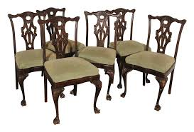 Chinese Chippendale Chair by Antique Chinese Chippendale Dining Chairs 6 Chairish
