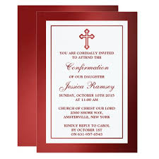 confirmation invitation metallic cross holy communion or confirmation card zazzle