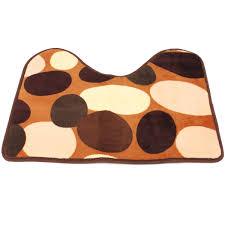 2pcs stone pattern toilet floor rug non slip bathroom closestool