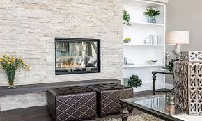 Stacked Stone Veneer Interior St Louis Fireplace Stone Veneer Living Room Contemporary With