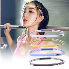 sports hair bands 58 62cm men women sports hair bands elastic pilates silicone
