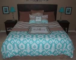 Turquoise Chevron Duvet Cover Custom Personalized Chevron U0026 Damask Duvet Cover Or Comforter