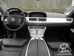 How To Vinyl Wrap Interior Trim Bmw 745 7 Series Custom Console Interior Vinyl Wray Grey Carbon