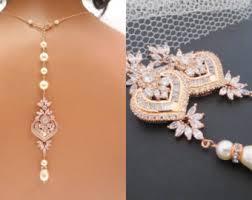 crystal bridal necklace sets images Wedding necklace set etsy jpg