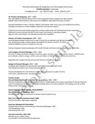 Sample Resume Product Manager Résumé Samples Chesepeake Career Management Services