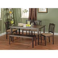 metropolitan 6 piece dining set with bench espresso box 2 of 2 metropolitan 6 piece dining set with bench espresso box 2 of 2 walmart com