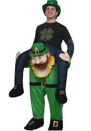 leprechaun costume carry me buddy ride on a shoulder piggy back ride leprechaun
