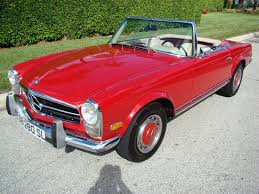classic red mercedes 1968 mercedes benz 280sl for sale