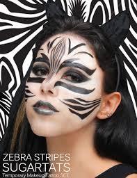 zebra temporary halloween face tattoo popsugar beauty photo 10