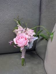 Rose Boutonniere Spray Rose And Astilbe Boutonniere