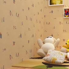 pink color children u0027s room cartoon wallpaper light green cartoon