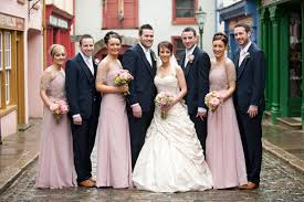 blush colored bridesmaid dress navy groomsmen what color the knot