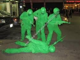 Jamaican Halloween Costume Ideas Coolest Homemade Plastic Army Men Group Halloween Costume Idea